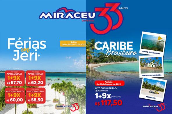 Miracéu Turismo oferece pacotes especiais para viagem
